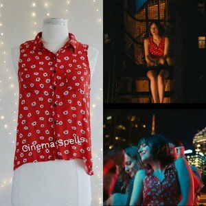 ASO Alice in How To Be Single Red Daisy Top - S